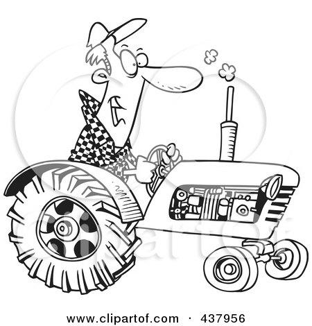 Cartoon Tractor Driver 437958
