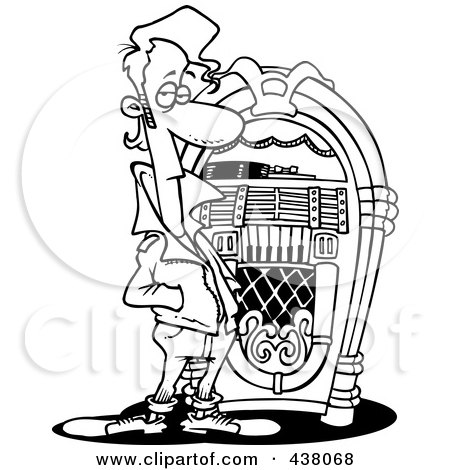 Clipart of a Retro Vintage Jukebox Machine - Royalty Free Vector ...