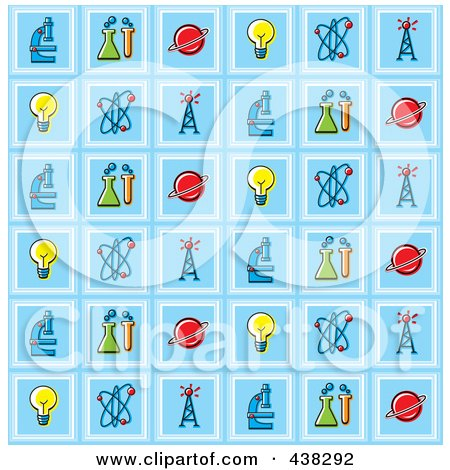 Science Background Pattern Posters, Art Prints