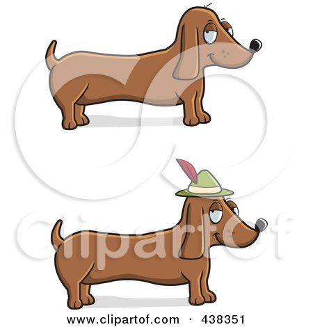 Royalty-Free (RF) Clipart Illustration of a Digital Collage Of Wiener Dogs by Cory Thoman