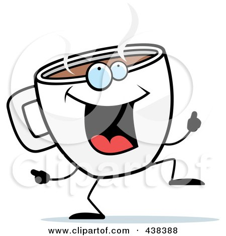 Coffee Cup Doing A Happy Dance
