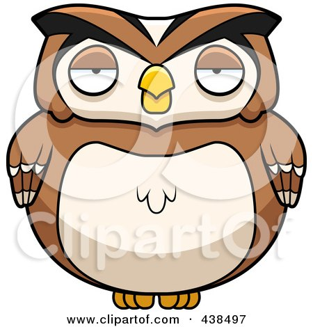 Royalty-Free (RF) Clipart Illustration of a Chubby Owl by Cory Thoman