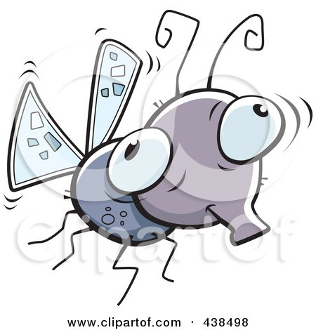 Royalty-Free (RF) Clipart Illustration of a Mosquito by Cory Thoman