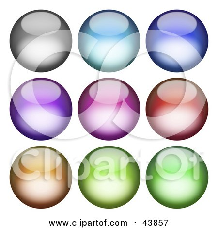 Collage Of Shiny Orb Design Elements Posters, Art Prints