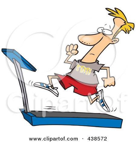 Royalty-Free (RF) Running On A Treadmill Clipart, Illustrations ...