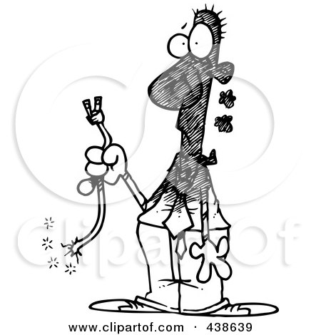 Royalty Free Rf Clip Art Illustration Of A Cartoon Man Trying To