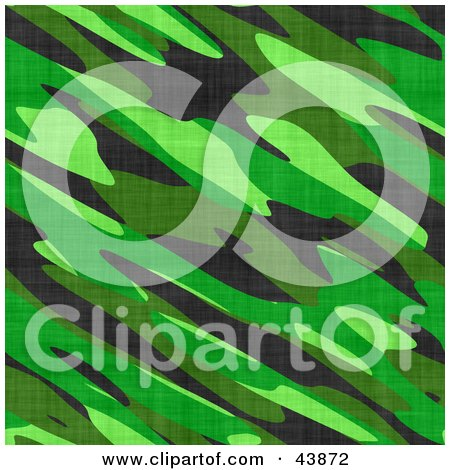 Clipart Illustration of a Background Of Jungle Green Military Camo by Arena Creative