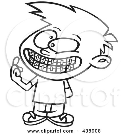 clipart teeth with braces