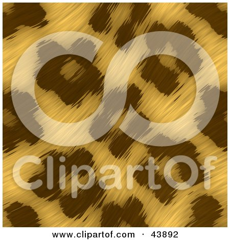 Clipart Illustration of a Background Of Wavy Leopard Print Fur by Arena Creative