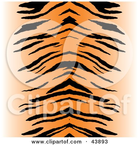 Clipart Illustration of a Black And Orange Centered Tiger Stripe Background by Arena Creative
