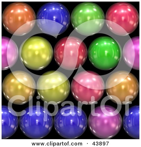 Background Of Rainbow Colored Shiny Orbs On Black Posters, Art Prints