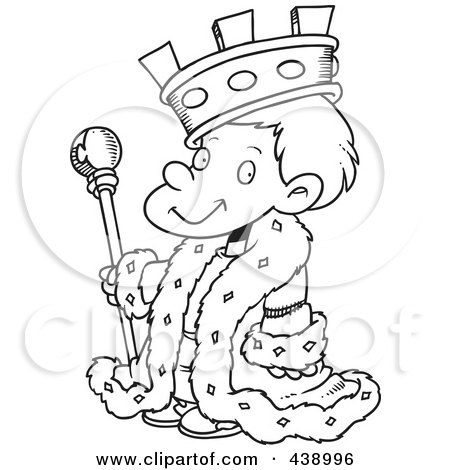 Royalty-Free (RF) Clip... King Clip Art Black And White