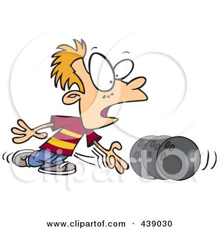 Royalty-Free (RF) Clip Art Illustration of a Cartoon Boy Bowling by toonaday
