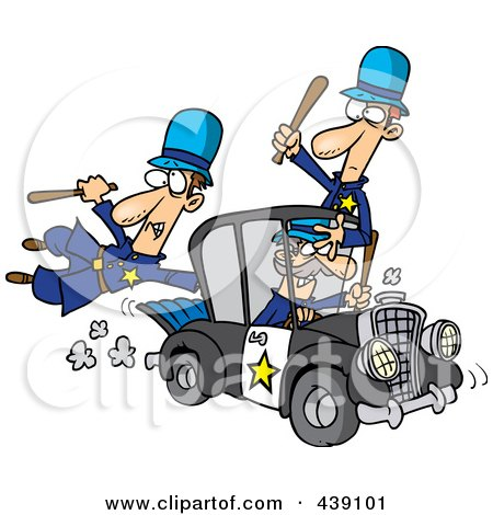 Clipart of a Police Car - Royalty Free Vector Illustration by Lal ...