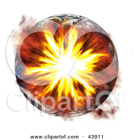 Earth Exploding During A Terrorist Bombing Or Nuclear War Posters, Art Prints