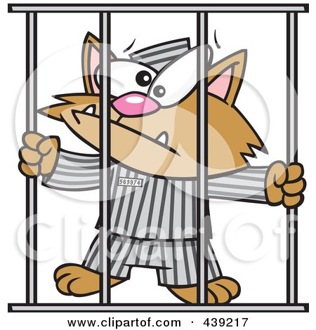 kitty cat cartoon pictures. Cartoon Prisoner Cat