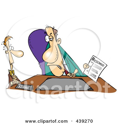 Royalty-Free (RF) Clip Art Illustration of a Cartoon Nervous Man In An Interview by toonaday