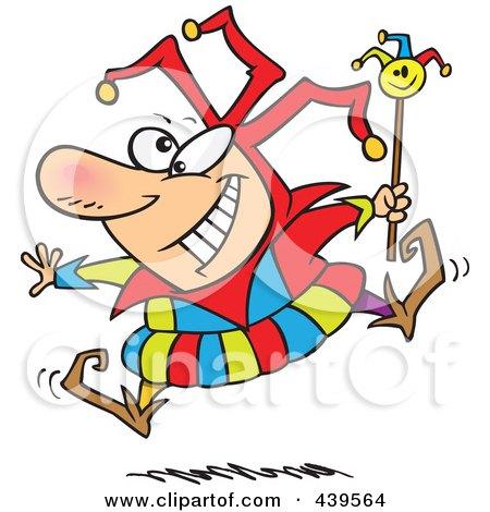 Royalty-Free (RF) Clip Art Illustration of a Cartoon Happy Fool by toonaday