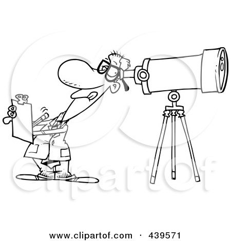 astronomy clipart black and white - photo #42