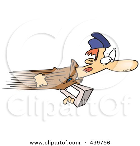 Royalty-Free (RF) Clip Art Illustration of a Cartoon Express Delivery Man by toonaday