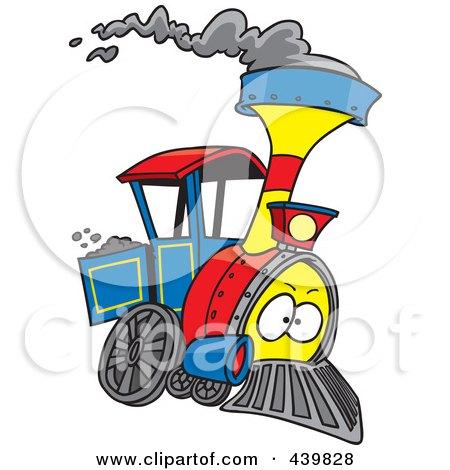 Royalty Free RF Clip Art Illustration Of A Cartoon Steam Engine Train