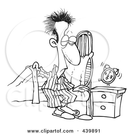 Getting Out Of Bed Clipart Images