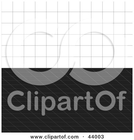 Clipart Illustration of Two Vertical Backgrounds Of Black And White Grids by Arena Creative