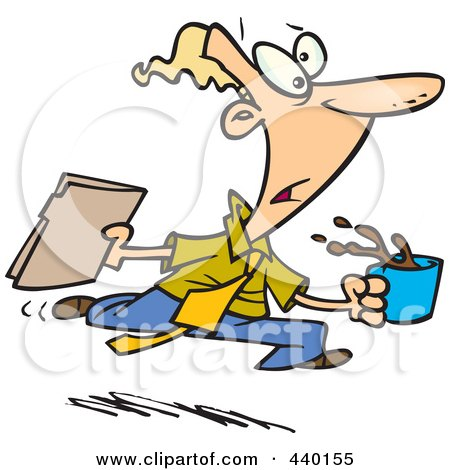 Royalty-Free (RF) Clip Art Illustration of a Cartoon Office Gofer Assistant by toonaday