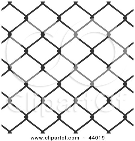 Clipart Illustration of a Background Of Chain Link Fencing On White by Arena Creative