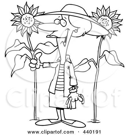 Royalty Free Rf Sunflower Garden Clipart Illustrations Vector