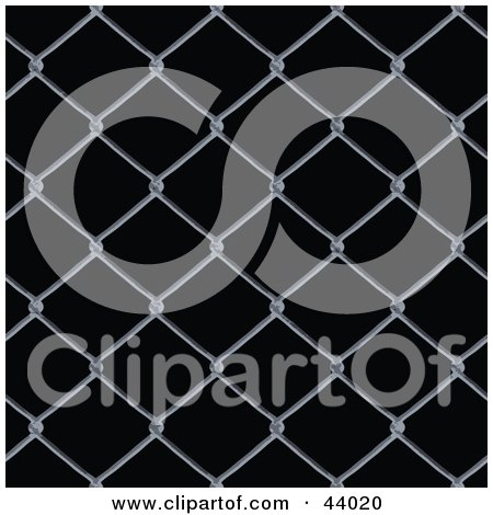 Background Of Chain Link Fencing On Black Posters, Art Prints