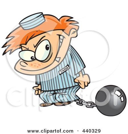 Cartoon Bad Boy In A Prison Uniform Posters, Art Prints