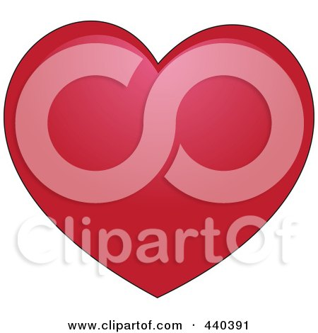 Royalty-Free (RF) Clip Art Illustration of a Plump Red Heart by Vitmary Rodriguez