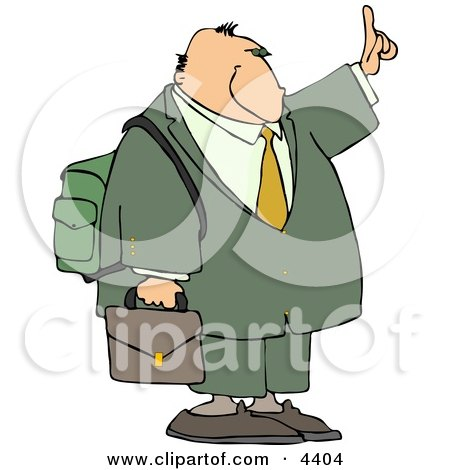 Traveling Businessman Trying to Get a Ride by Holding Hand Out Posters, Art Prints