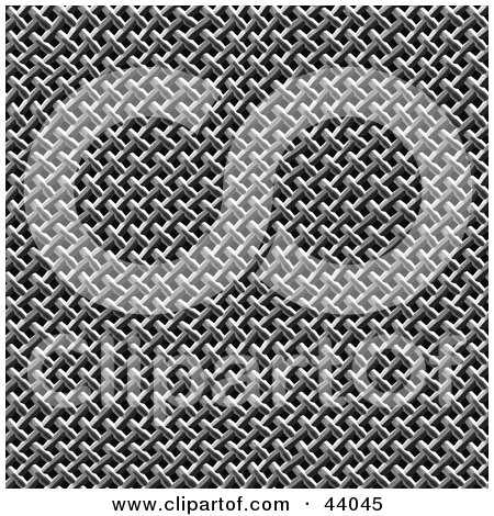 Clipart Illustration of a Chainmaille Or Mesh Background by Arena Creative