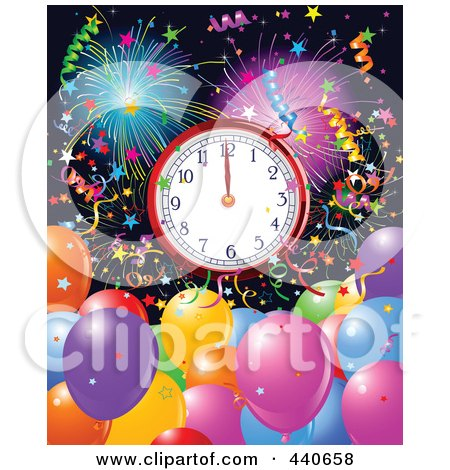clip art balloons and confetti. Royalty-free clipart