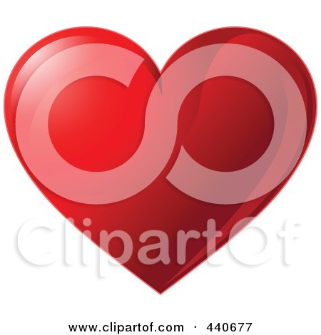 Royalty-Free (RF) Clip Art Illustration of a Shiny Red Valentine Heart by Pushkin