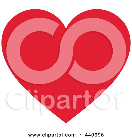 Royalty-Free (RF) Clip Art Illustration of a Solid Red Heart by Pushkin