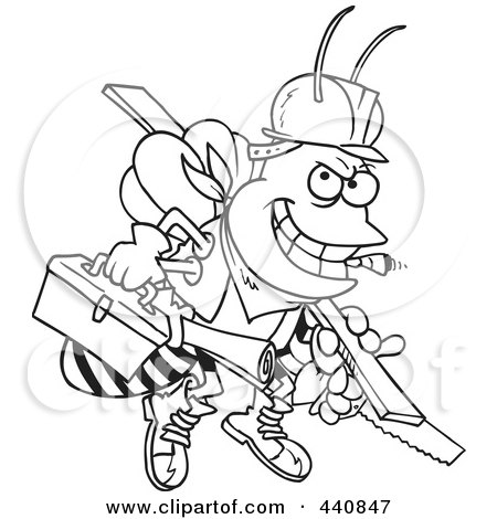 Royalty Free Rf Carpenter Bee Clipart Illustrations