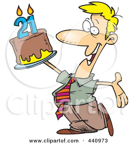 Birthday Cake Clipart on Royalty Free  Rf  Clip Art Illustration Of A Cartoon Old Man Holding A