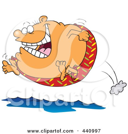 Royalty-Free (RF) Clip Art Illustration of a Cartoon Fat Man Jumping ...
