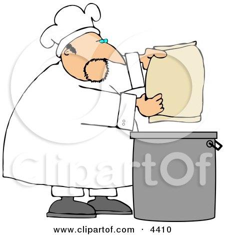 Male Bake Making Bread Clipart by djart