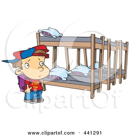 Royalty Free Rf Clipart Of Bunk Beds Illustrations