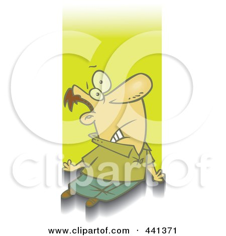 Royalty-Free (RF) Clip Art Illustration of a Cartoon Man Being Abducted by toonaday