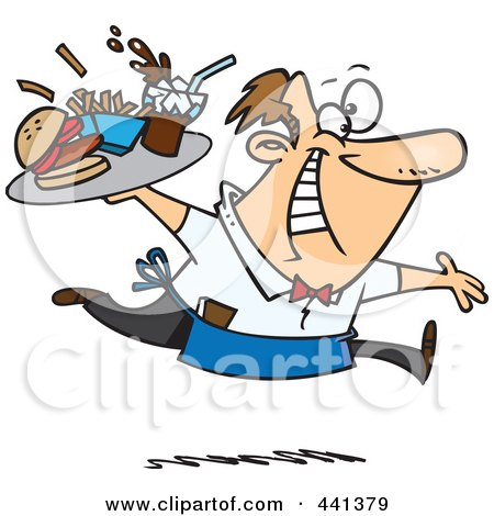 https://images.clipartof.com/small/441379-Royalty-Free-RF-Clip-Art-Illustration-Of-A-Cartoon-Energetic-Waiter-Serving-Fast-Food.jpg