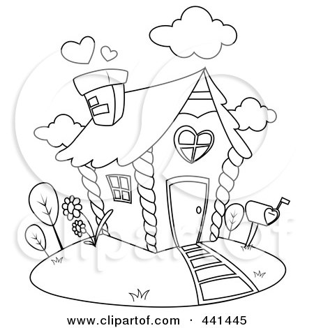 Clip Art Houses Free. Royalty-free clipart picture