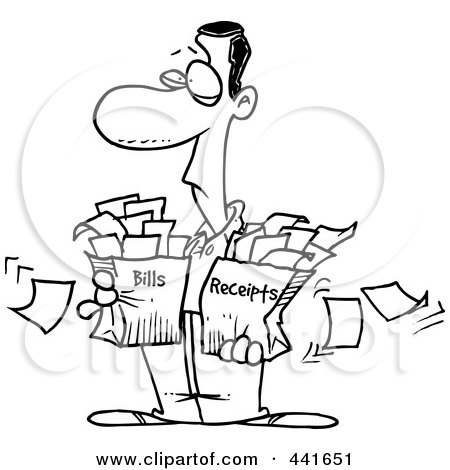 taxes clipart black and white - 400×420
