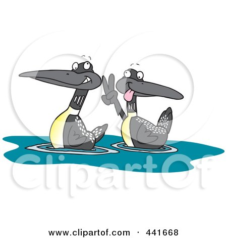 Royalty-Free (RF) Loon Clipart, Illustrations, Vector ...