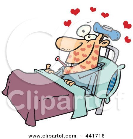 Cartoon Man With Love Sickness Posters, Art Prints