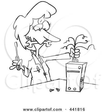 Royalty-Free (RF) Clip Art Illustration of a Cartoon Female ...